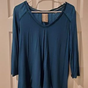 ANTHROPOLOGIE Dolan Mixed Material Top